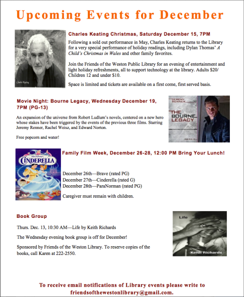 December 2012 Programs