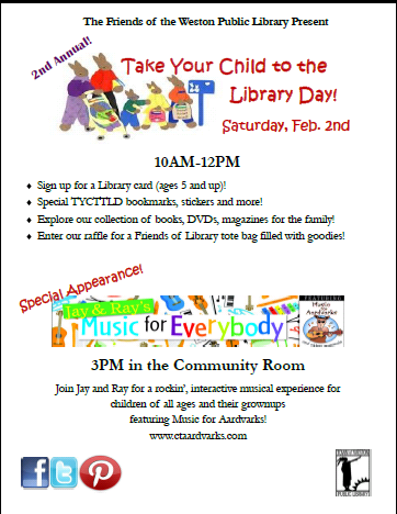 Take Your Child to the Weston Public Library Day - 2/2