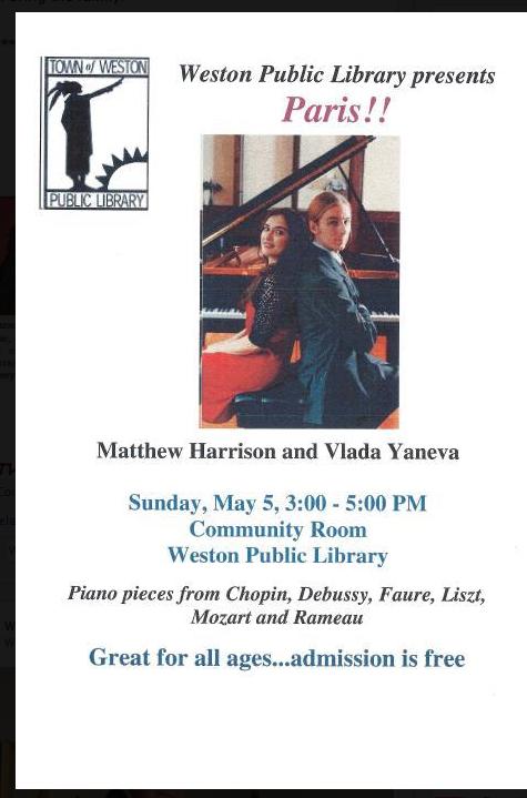 Free Interactive Piano Concert (Paris!) - May 5