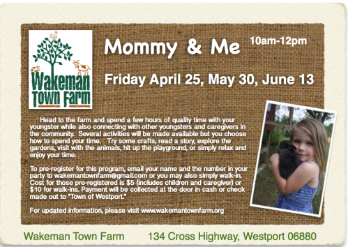 Mommy & Me at the Wakeman Town Farm
